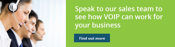 Speak to our sales team to see how VOIP can work for your business