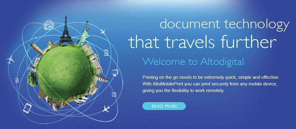 Document technology that travels further. Click to find out more.