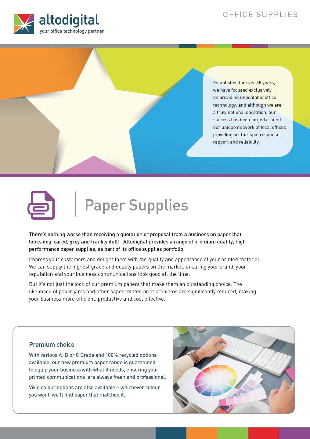 Learn about our range of paper supplies