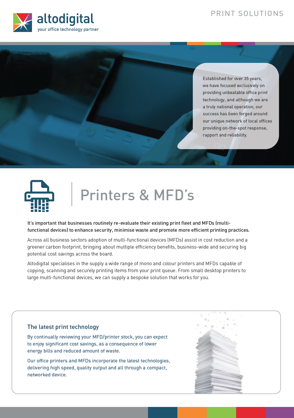 Get our latest Printer & MFD brochure